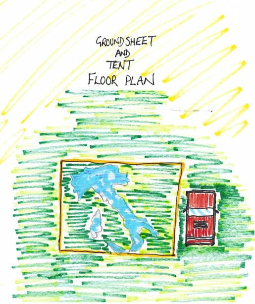 Ground sheet floor plan